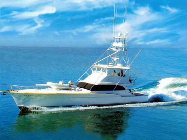 Used Buddy Davis Sport Fishing Motor Yacht Flybridge Boat For Sale