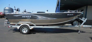 Used Hewescraft 18 Open Fisherman Aluminum Fishing Boat For Sale