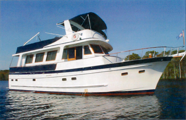 Used Marine Trader 50 Stabilized Trawler Boat For Sale