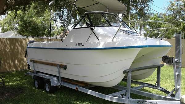 Used Kelactate 20 Power Catamaran Boat For Sale