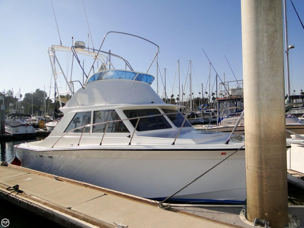1972 used uniflite 28 sport fisher sports fishing boat for for Fishing boats for sale san diego