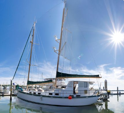 Used Custom George Sutton Designed 65-Foot Steel Schooner Cruiser Sailboat For Sale