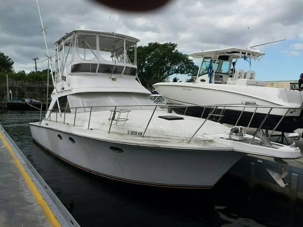 Used Trojan 40 Sport Fish Flybridge Boat For Sale