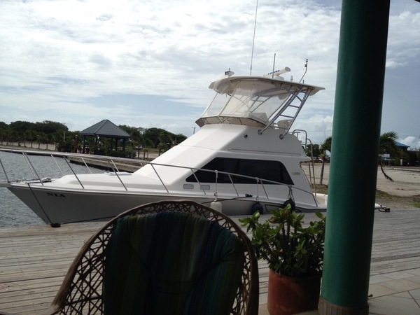 Used Cabo Yachts 35 Flybridge Sportfisher Saltwater Fishing Boat For Sale