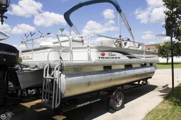 Used Tracker 21 Fishing Barge Pontoon Boat For Sale