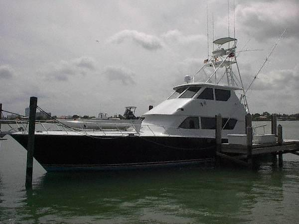 Used Hatteras Enclosed Flybridge Convertible Fishing Boat For Sale