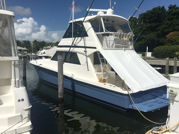 Used Riviera 48 Enclosed Bridge Sports Fishing Boat For Sale