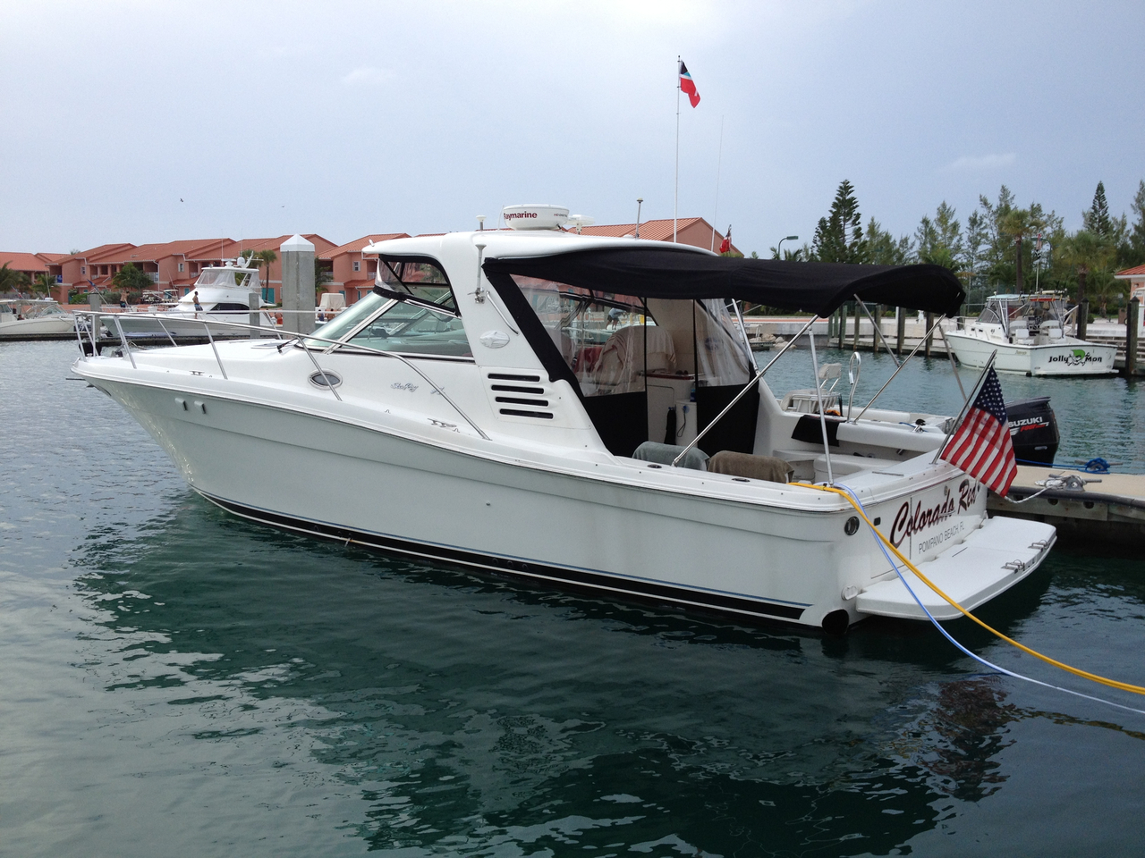 1999 used sea ray ec sports fishing boat for sale for Sport fishing boats for sale