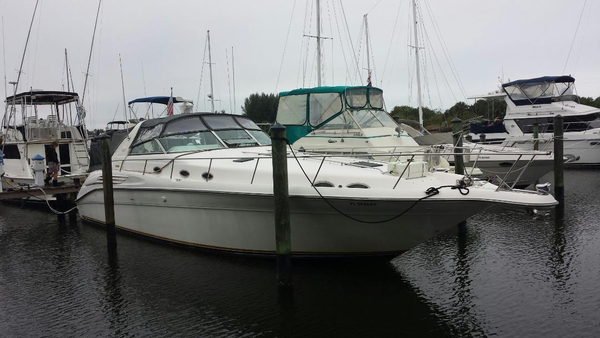Used Sea Ray 450 Sundancer With Diesels Sports Cruiser Boat For Sale