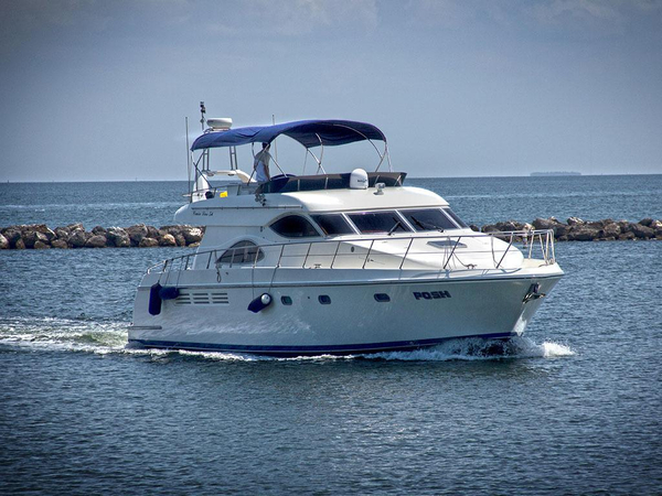 Used Cruise Line 54 Motor Yacht Sports Cruiser Boat For Sale