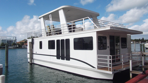 Used Destination Sleepafloathouseboat House Boat For Sale