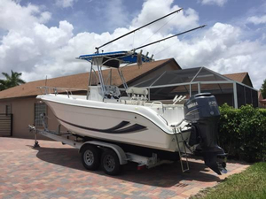 Used Cobia 234 Center Console Saltwater Fishing Boat For Sale