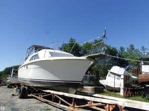 Used Trojan F-36 Tri-Cabin Express Cruiser Boat For Sale