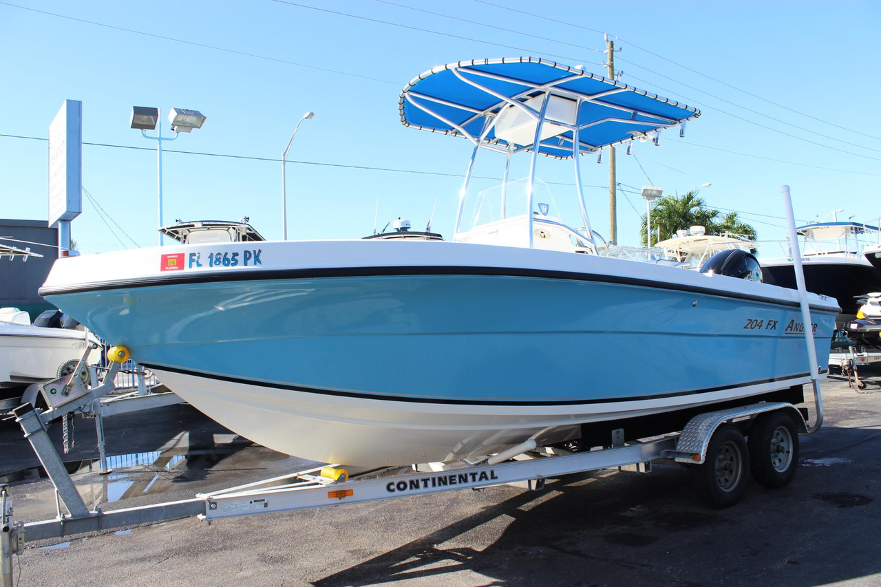 2013 used angler 204 fx center console fishing boat for for Angler fish for sale