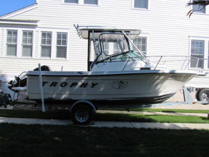 Used Trophy Walk Around Walkaround Fishing Boat For Sale