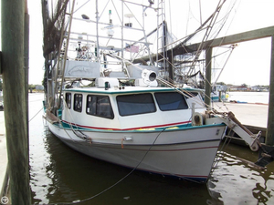 Used Lafitte 45 x 18 Shrimper Skimmer Commercial Boat For Sale