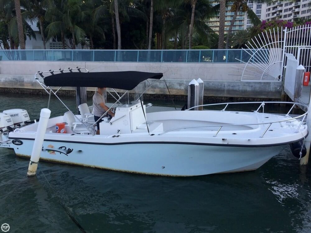2014 used dusky marine 252 open fisherman center console for Used fishing boats for sale in florida