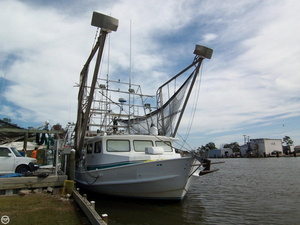 Used Lafitte 52 x 20 Shrimper Skimmer Commercial Boat For Sale