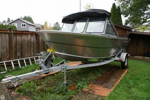 Used Alumaweld Talon 16 Aluminum Fishing Boat For Sale