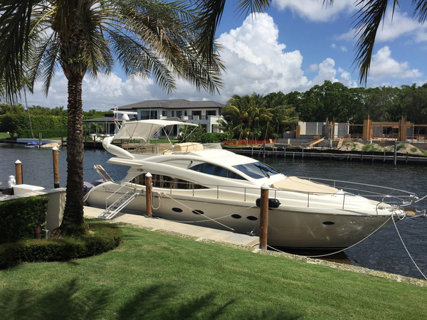 Used Aicon 56 Flybridge Boat For Sale