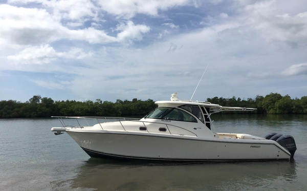Used Pursuit 375 Offshore Walkaround Fishing Boat For Sale