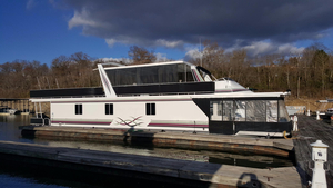 Used Sharpe Houseboat 18 X 74 Widebody Houseboat House Boat For Sale
