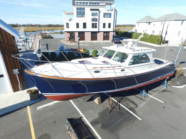 2007 used hinckley talaria 40 downeast fishing boat for for Fishing boats for sale nj
