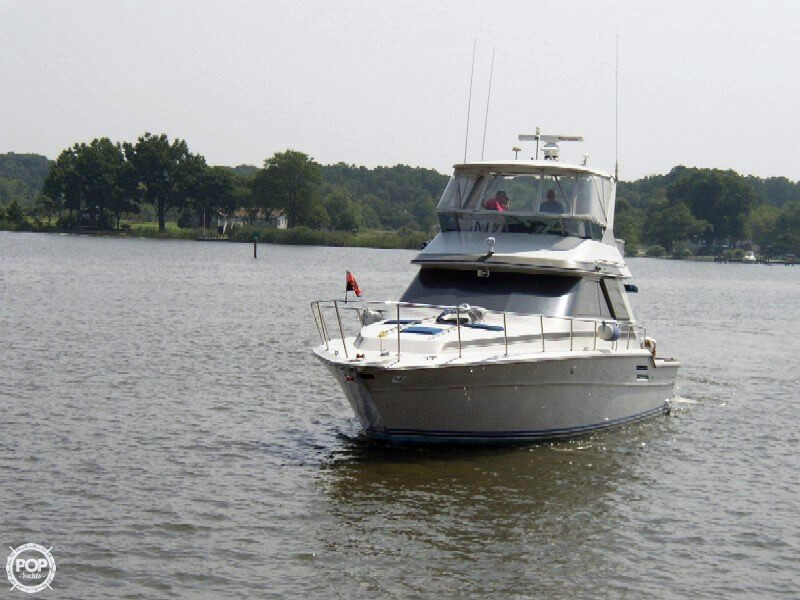 1987 used sea ray 46 convertible sports fishing boat for for Used fishing boats for sale in md
